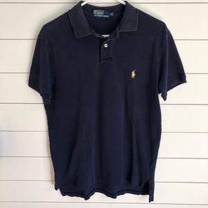 "POLO Navy ""Broken-in"" Shortsleeve Collared Shirt"